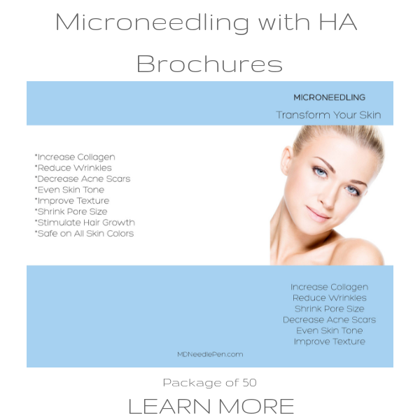Three Types of Microneedling Brochures